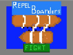 Repel Boarders Title Screen